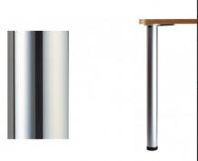 Каркас для стола д60 Н-1100 основание 450 площадка, хром (А-22к-450хр)